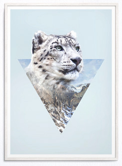 Faunascapes Geometric Art Print Panther